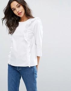 Блузка с рюшами спереди Vero Moda - Белый