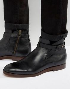 Кожаные ботинки Hudson London Cutler - Черный