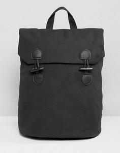 Парусиновый рюкзак с застежкой-тогл ASOS - Черный