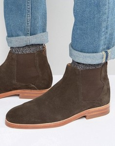 Замшевые ботинки челси Hudson London Tonti - Коричневый