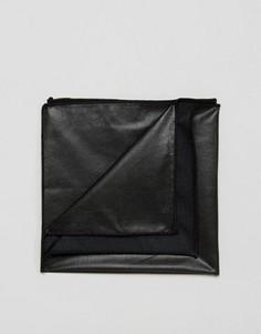 Черный платок для нагрудного кармана из искусственной кожи ASOS - Черный