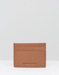 Светло-коричневая кожаная кредитница Forbes & Lewis - Рыжий