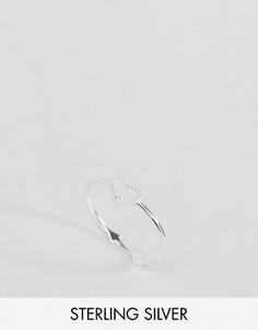 Серебряное кольцо с сердцем и стрелой Reclaimed Vintage - Серебряный