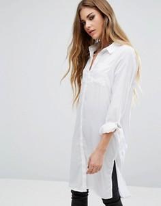 Длинная рубашка с пряжками Noisy May - Белый