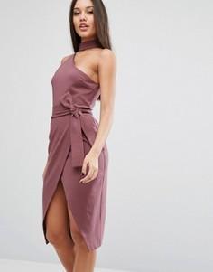 Платье-футляр с горловиной-чокер Lavish Alice - Фиолетовый