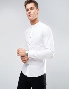 Супероблегающая рубашка с золотистыми кнопками ASOS - Белый