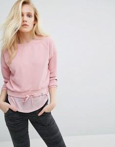 Укороченный розовый свитшот Only Play - Розовый