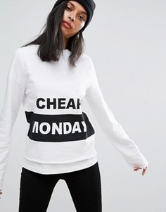 Свитшот с логотипом Cheap Monday - Белый