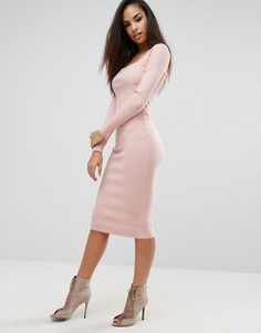 Юбка-карандаш со вставками Kendall + Kylie - Розовый