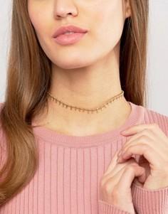 Ожерелье-чокер с подвеской Rock N Rose Arlo - Золотой