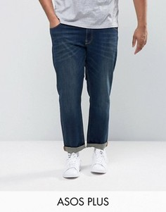 Узкие эластичные джинсы темно-выбеленного цвета ASOS PLUS - Синий