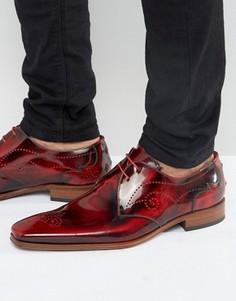 Кожаные броги Jeffery West Scarface - Красный