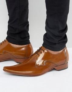 Туфли с прострочкой по центру Jeffery West - Рыжий