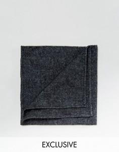 Черный платок для нагрудного кармана Reclaimed Vintage - Черный