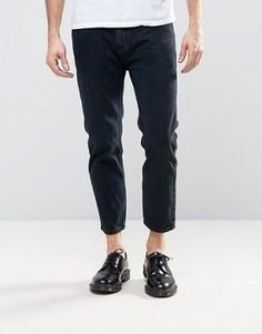 Черные выбеленные укороченные джинсы Rollas Stubs - Черный Rollas
