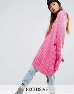 Платье-джемпер в стиле oversize Mad But Magic - Розовый