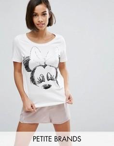 Пижамный топ с принтом Минни Маус Vero Moda Petite - Серый