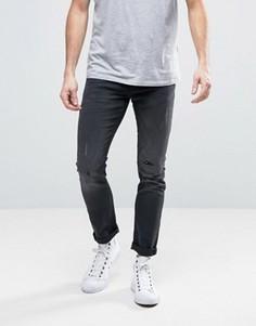 Рваные джинсы скинни с заплатками Burton Menswear - Черный