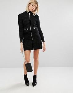 Комбинируемая мини-юбка с блестками Sonia By Sonia Rykiel - Черный