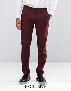 Меланжевые брюки зауженного кроя Only & Sons - Красный