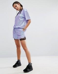 Комбинируемые шорты с пайетками Jaded London - Фиолетовый