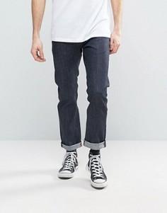 Прямые джинсы из необработанного денима G-Star Revend - Темно-синий