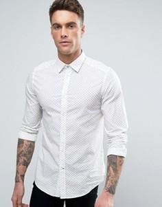 Узкая рубашка с принтом Diesel S-BLANCA - Темно-синий