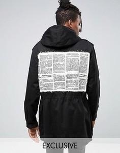Куртка в стиле милитари с нашивками Reclaimed Vintage - Черный