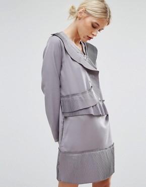 Цельнокройное платье с асимметричными складками Zacro - Серый