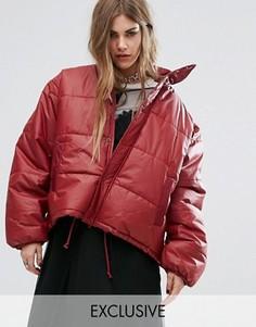 Дутая oversize-куртка Reclaimed Vintage - Красный