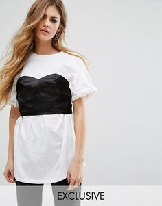 Oversize-футболка Reclaimed Vintage - Белый