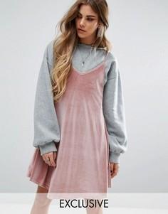 Платье 2 в 1 со свитшотом Rokoko - Мульти