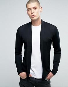 Кардиган из мериносовой шерсти без застежек AllSaints - Черный