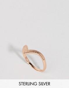 Покрытое розовым золотом серебряное кольцо с гравировкой Lavish Alice - Золотой