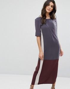 Платье миди в стиле колор блок Y.A.S - Мульти