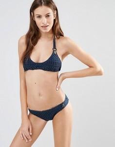 Ажурный купальник-бикини с подвесками Stella McCartney - Темно-синий
