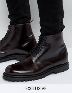 Кожаные ботинки со шнуровкой Hudson London эксклюзивно для ASOS - Красный
