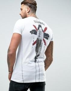 Футболка с принтом на груди и спине Religion - Белый