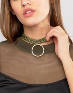 Ожерелье-чокер в виде цепочки с подвеской ASOS - Зеленый
