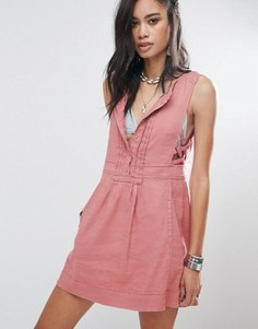 Платье мини Free People Moonshine - Розовый