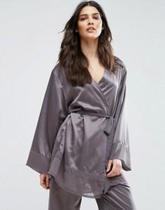 Халат-кимоно Bluebella Sophie Premium - Серый