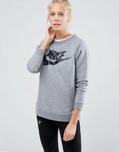 Серый свитшот с большим логотипом Nike Rally - Серый