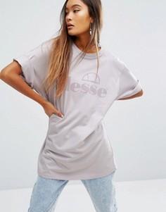 Oversize-футболка с логотипом Ellesse - Фиолетовый