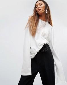 Oversize-футболка с удлиненными рукавами Ellesse - Белый