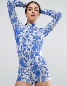 Неопреновый купальник Cynthia Rowley China Blue - Мульти