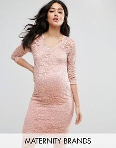Кружевное платье для беременных Mamalicious - Розовый Mama.Licious