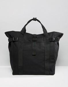 Чернaя сумка-тоут с ремешками ASOS - Черный