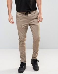 Зауженные брюки чиносы с молниями Brave Soul - Stone
