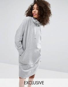 Трикотажное платье мини с карманом Monki - Серый