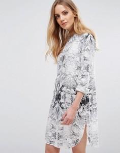 Платье-рубашка b.Young Henico - Белый